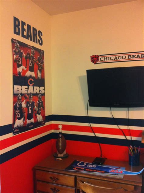 room bears chicago bears curtains home design ideas and pictures