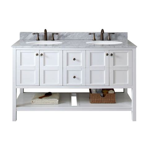 home depot usa bathroom vanities virtu usa winterfell 60 in w x 22 in d vanity in white