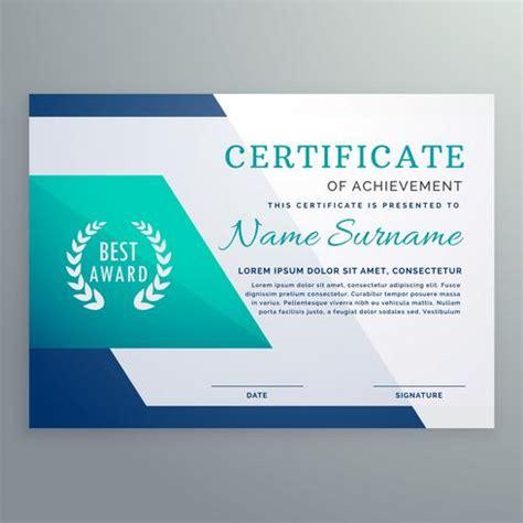 graphic design certificate nh blue certificate design template in geometric shape style
