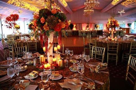 beautiful wedding venues in nj beautiful floral arrangements at wedding reception in park