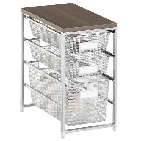 Platinum Cabinet Sized Elfa Mesh Bath Storage The Container Store Bathroom Storage