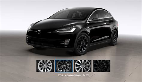 Tesla Model X Options Tesla Model X Gets A 20 Quot Sonic Carbon Wheel And Center