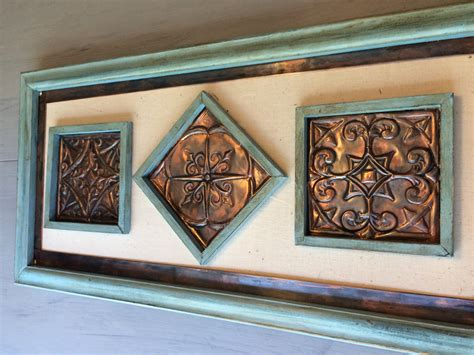 copper wall art home decor copper wall art hand made embossed original unique wall