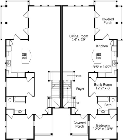 coastal duplex house plans dune duplex coastal living southern living house plans