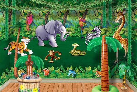 jungle theme decorations vacation bible school vbs jungle theme decorations