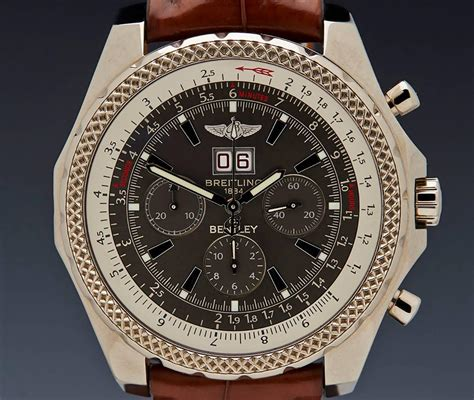white gold bentley breitling white gold bentley 6 75 chronograph limited