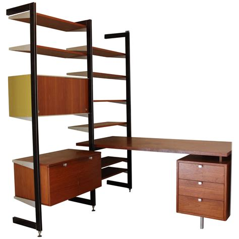 Wall Unit Desk Combo george nelson for herman miller css desk and wall unit combo for sale at 1stdibs