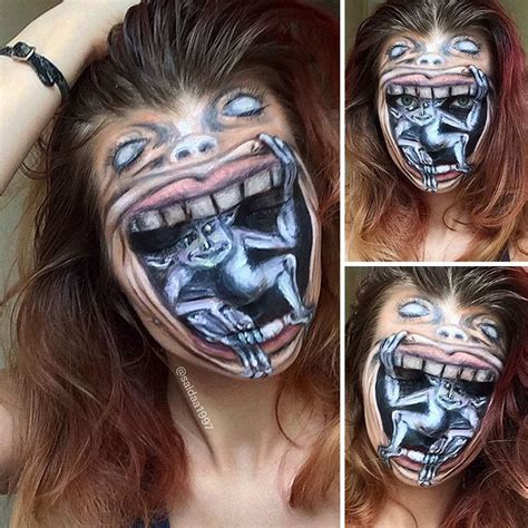 Lipstik Tatto Original masterful horror makeup by 19 year artist