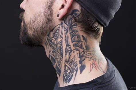 black and gray tribal tattoos 56 enchanting black and gray neck tattoos