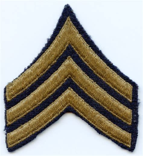 Flying Tiger Store Online Store Wwii Us Army Sergeant Rank Stripes In Brown