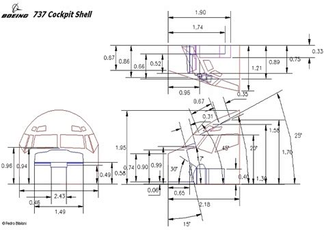 Dimensions Of by Boeing 737 Flightsim