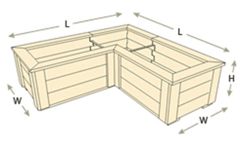l shaped planter boxes naturalyards