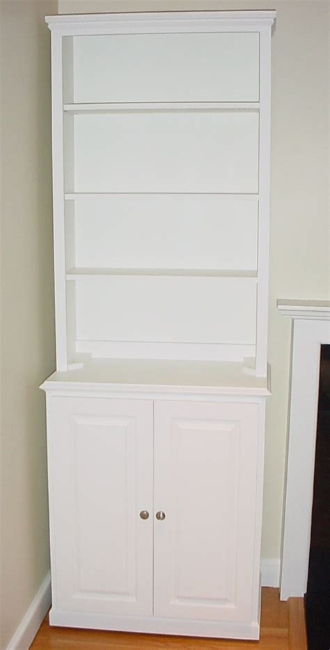 Bookcase With Wood Door Cabinet Cabinet Doors