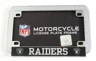 Motorcycle License Oakland Raiders Motorcycle License Plate Frame Laser