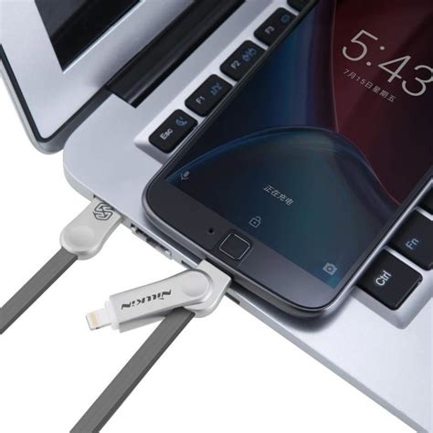 Nillkin Plus Iii Micro Usb Lightning Charger Cable Da Promo nillkin plus iii usb micro usb lightning data flat cable 1m 2 1a white white hurtel pl