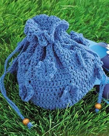 pattern crochet string bag drawstring flower bag crochet pattern crochet bags