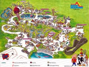 theme park brochures six flags magic mountain theme park