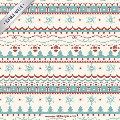 christmas pattern border vintage christmas pattern vector vector free download