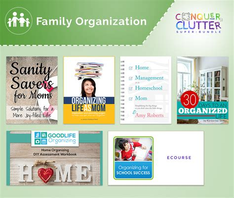 family organization simplify your life conquer your clutter once and for all