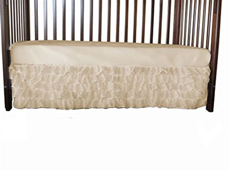 Ecru Crib Skirt by Baby Doll Bedding Layered 5 Tiered Nuetral Crib Skirt
