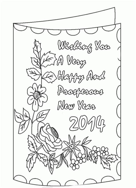 printable greeting cards for coloring new year greeting card coloring pages new year coloring