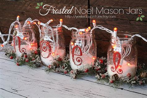 Cheap Shabby Chic Home Decor 15 easy mason jar christmas decorations you can make