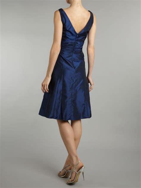 Js Vneck js collections vneck prom dress in blue sapphire lyst