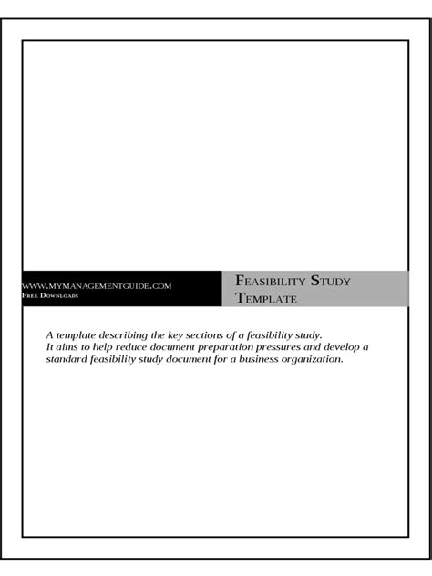 feasibility study template doc project feasibility study template 2 free templates in