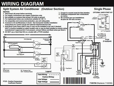 wiring diagram split air conditioner wiring diagram