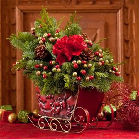 costco metal sleigh centerpiece christmas centerpieces
