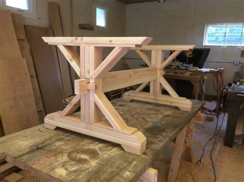 diy trestle table legs farmhouse trestle table diy kit by lakeshorehnh on etsy home decor trestle