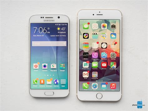 iphone v samsung samsung galaxy s6 vs apple iphone 6 plus