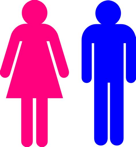 male female bathroom symbols symbol male and female clip art at clker com vector clip