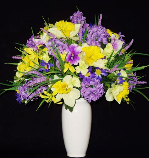 artificial floral arrangements silk flower arrangement lavender hyacinth by beautyeverlasting