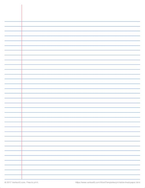Notebook Paper Template To Type On