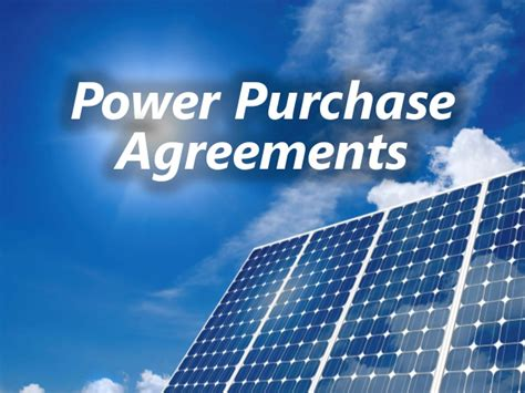 power purchase agreement solar power purchase agreement contracts