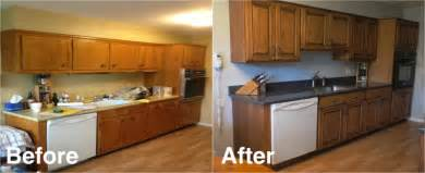 Refaced Kitchen Cabinets Before And After Reface Kitchen Cabinets Before And After Tryonshorts Com