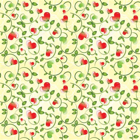 pattern elegant illustrator elegant seamless pattern with abstract floral hearts