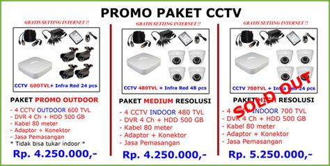 Promo Paket Komplit Indor Black 2 Mp Hdd 1 Tb Seageta promo paket arvio cctv jakarta