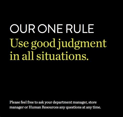 one rule nordstrom s employee handbook is a single sentence