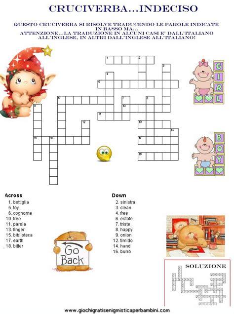 5 giorni testo cruciverba crossword enigmistica per bambini e ragazzi