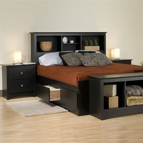 black king platform storage bed  piece bedroom set bsh  pkg