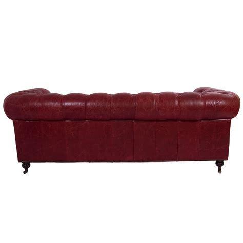vintage leder design dreisitzer sofa chesterfield antik