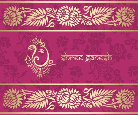 indian pattern name indian ethnic pattern with pink backgrounds vector 04