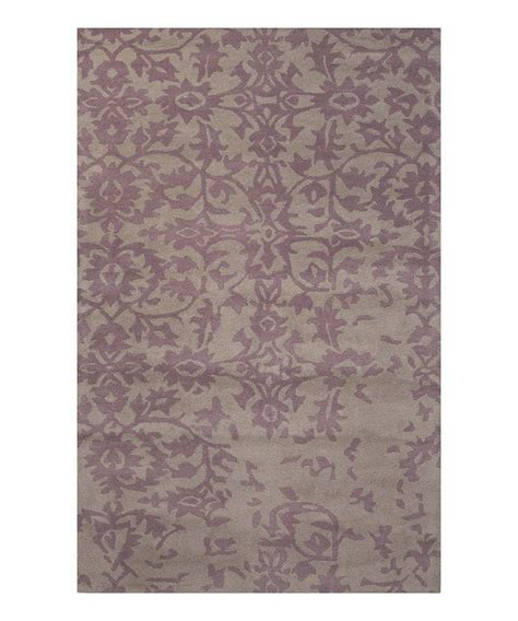 mauve rugs this ashwood mauve floral wool rug by jaipur rugs is zulilyfinds