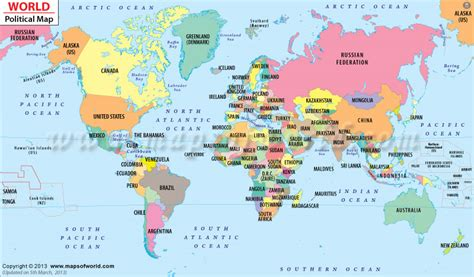 interactive world map with country names political map of the world for explaining and