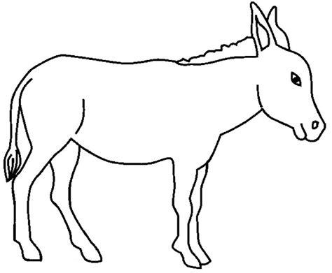 imagenes para colorear burro dibujos de burros para colorear y pintar