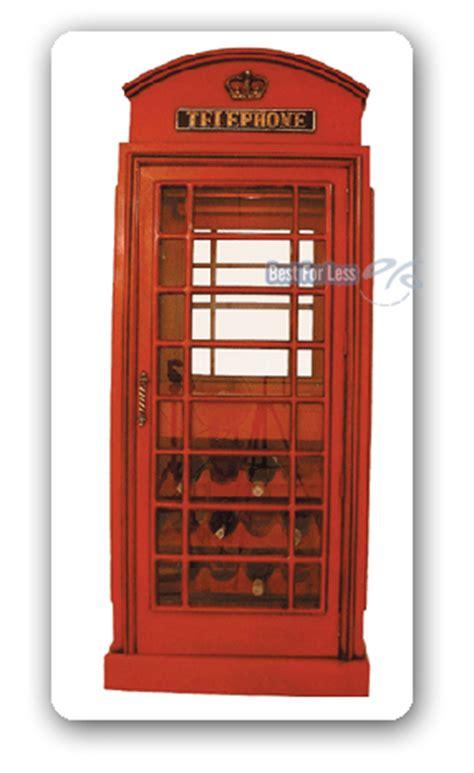 wandschrank auf englisch englische telefonzelle wein vitrine schrank deko neu