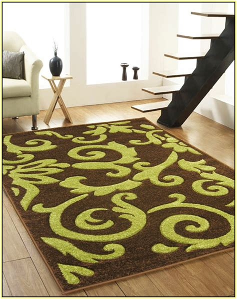Lime Green And Brown Area Rugs brown and aqua area rugs home design ideas