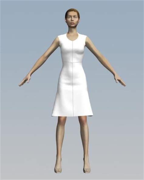 3d model designer simple dress marvelous designer obj 3d model sharecg